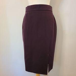 Akris Punto Eggplant Pencil Skirt
